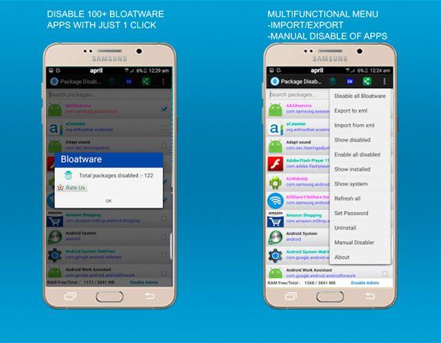 Eliminar las aplicaciones de fábrica del Samsung Galaxy