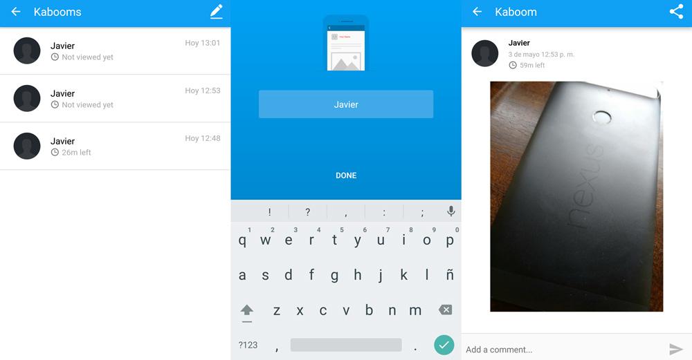Kaboom, mensajes que se autodestruyen para WhatsApp