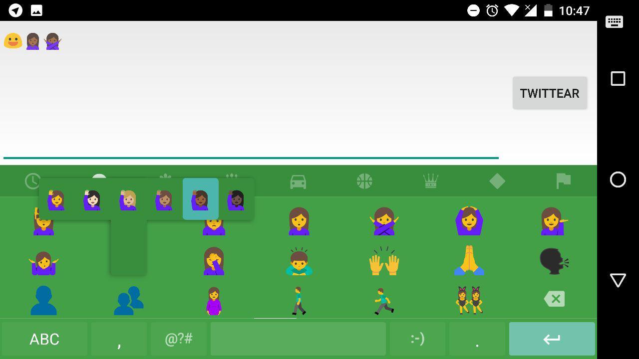 emojis teclado de Google