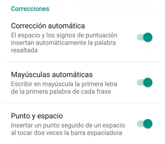 correccion android