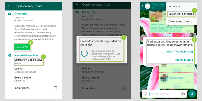 Exportar mis chats de WhatsApp en Android